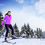 Cross-country skiing to Vejsplach in Vrchlabi